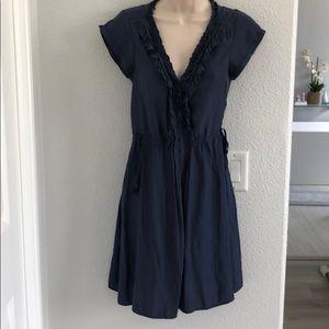 American eagle Blue midi dress with button